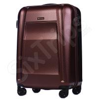 Голям луксозен куфар поликарбонат Puccini New York, червено вино