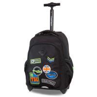 Черна раница на колела за училище CoolPack Junior Badges Black