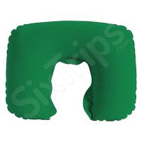 Мека надуваема възглавница в зелен цвят