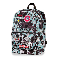 Светлосиня раница камуфлаж CoolPack Cross Camo Blue Badges