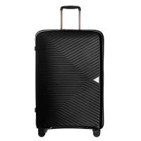 Куфар среден размер 64см в изискан черен цвят на четири колела Puccini Denver