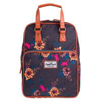 Раничка и чанта с дизайн на цветя CoolPack Cubic Denim Flowers