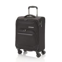 Малък мек черен куфар на четири колела Travelite Kendo S