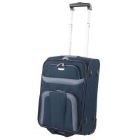 Тъмносин текстилен куфар на две колела за ръчен багаж Travelite Orlando S
