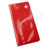 Червен портфейл за документи за път
