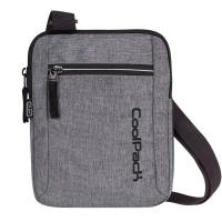 Практична сива чанта за през рамо CooPack Snow Grey / Silver