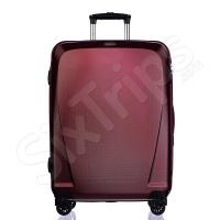 Куфар с разширение в цвят червено вино Puccini London