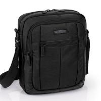 Изискана черна мъжка чанта Gabol Gear, 24см