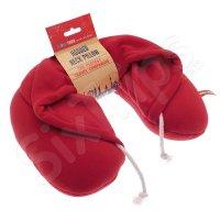Комфортна възглавница за пътуване с качулка, червена