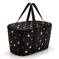 Голяма хладилна чанта Reisenthel Coolerbag, черна на цветни точки