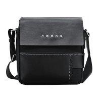 Черна мъжка кожена чанта за през рамо Cross Seville Slim Crossbody Bag