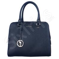 Модерна универсална черна дамска чанта Puccini