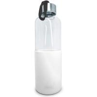 Стъклена бутилка с бял силиконов протектор Vin Bouquet 600мл