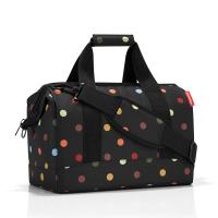 Елегантна черна пътна чанта на цветни точки Reisenthel allrounder M