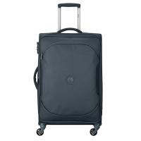 Стилен текстилен тъмносив куфар среден размер Delsey U-Lite classic 2 68см