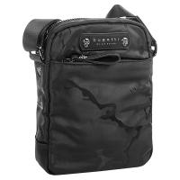 Черна чанта за рамо с модерен дизайн Bugatti Camo