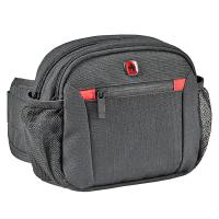 Практична черна чанта за пътуване за през кръста Wenger Waist Pack