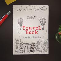 Планер / дневник с твърди корици за пътуване