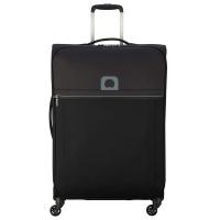 Черен голям олекотен куфар Delsey Brochant 78см, черен