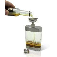 Стъклена бутилка за алкохол Vin Bouquet с фунийка