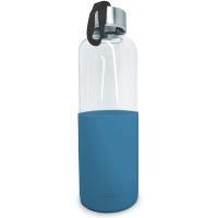 Стъклена бутилка със син силиконов протектор Vin Bouquet 600мл