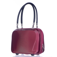 Твърда малка пътна чанта ръчен багаж Puccini London 20л, червено вино