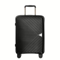 Черен куфар за ръчен багаж на четири колела Puccini Denver 55см, полипропилен