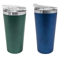 Двустенна термочаша Vin Bouquet Nerthus в синьо или зелено - 500мл