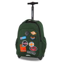 Раница на колела за училище в зелено CoolPack Junior Badges Black