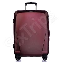 Луксозен куфар поликарбонат с разширение Puccini London, червено вино