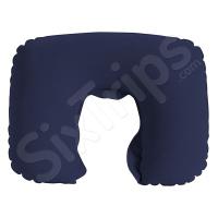 Синя възглавница за пътуване, надуваема
