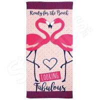 """Розова дамска плажна кърпа с фламинго Alfresco """"Looking Fabulous Flamingo"""""""