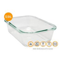 Херметическа стъклена кутия за храна Vin Bouquet 0.640л