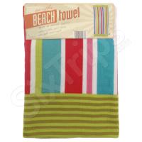 """Свежа цветна плажна кърпа на райета Alfresco """"Summer Stripe"""""""