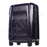 Голям тъмнолилав куфар поликарбонат Puccini New York 76л