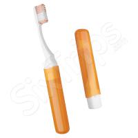 Оранжева портативна четка за зъби на две части