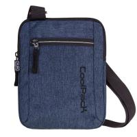 Удобна синя чанта за през рамо CooPack Snow Blue / Silver