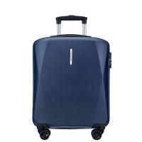 Малък куфар за ръчен багаж на четири колела син Puccini Singapore, поликарбонат