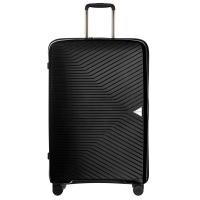 Голям  стилен твърд куфар на четири колела Puccini Denver 100л, черен