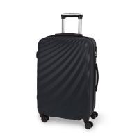 Стилен куфар на четири колела Gabol Royal 67см среден размер в черен цвят
