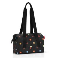 Черна пътна чанта с дизайн на цветни точки Reisenthel allrounder S