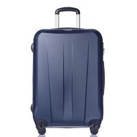 Тъмносин твърд куфар среден размер на четири колела Puccini Paris 67см