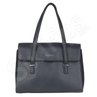 Черна дамска чанта с дълги дръжки Puccini