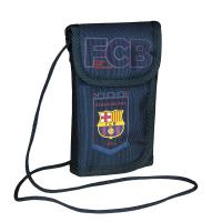 Тъмносиньо портмоне за през врата FC Barcelona The Best Team 4 FC-102
