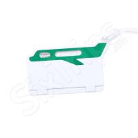 Етикет за куфар Mufix в бяло и зелено
