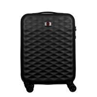 Малък черен куфар за ръчен багаж Wenger Lumen Hardside Luggage 20'' Carry-On