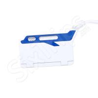 Лек етикет за багаж със самолетче в бяло и синьо Muffix