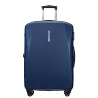 Куфар среден размер в стилен син цвят Puccini на четири двойни колела Puccini Singapore, поликарбонат