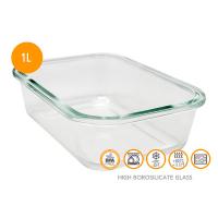 Херметическа стъклена кутия за храна Vin Bouquet 1л