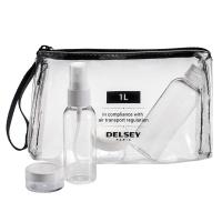 Комплект шишенца и бурканчета за течности за ръчен багаж Delsey